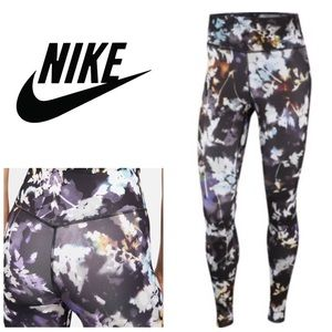 NWT Nike Floral One Dri-fit Leggings